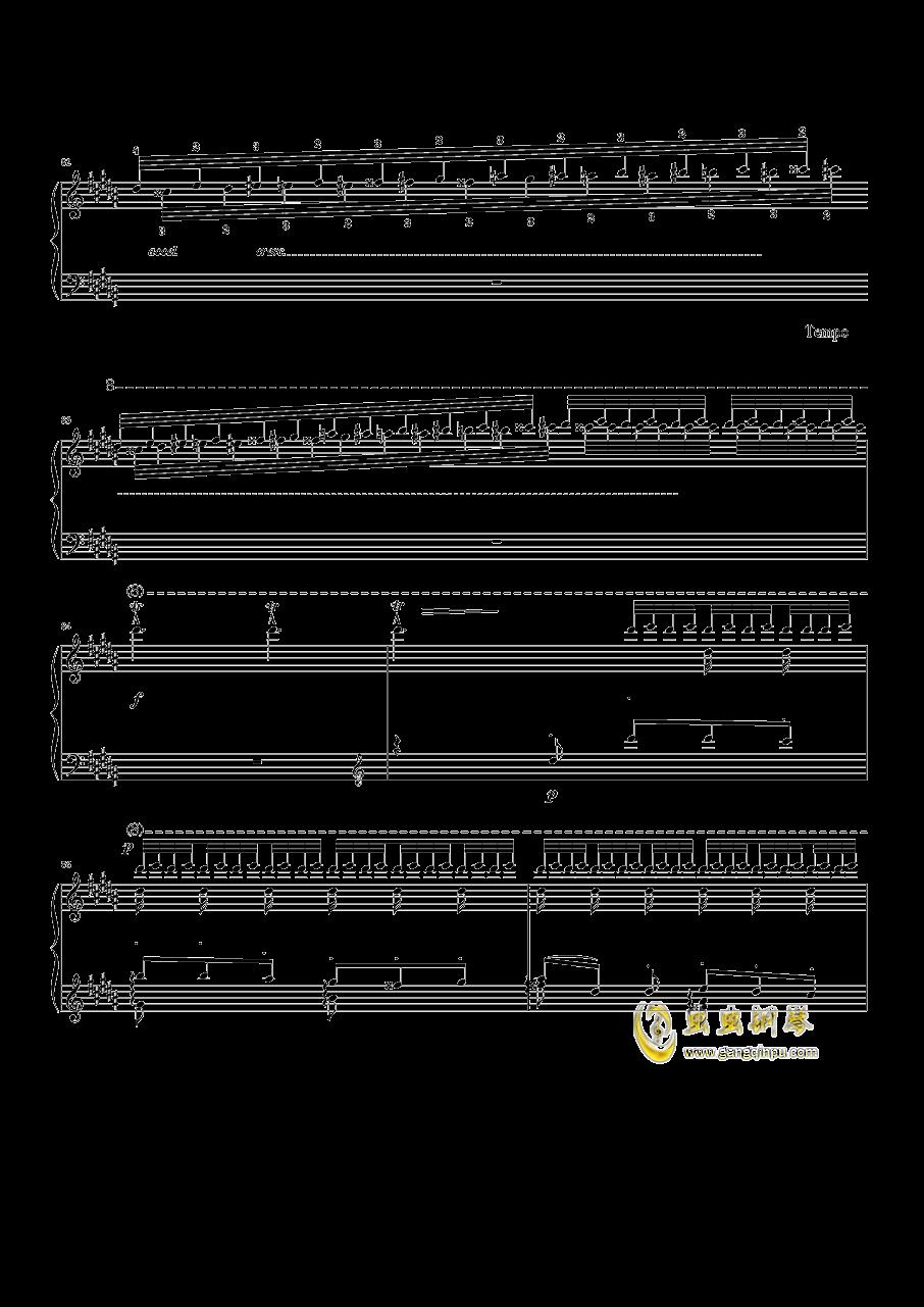 钟钢琴谱 第8页