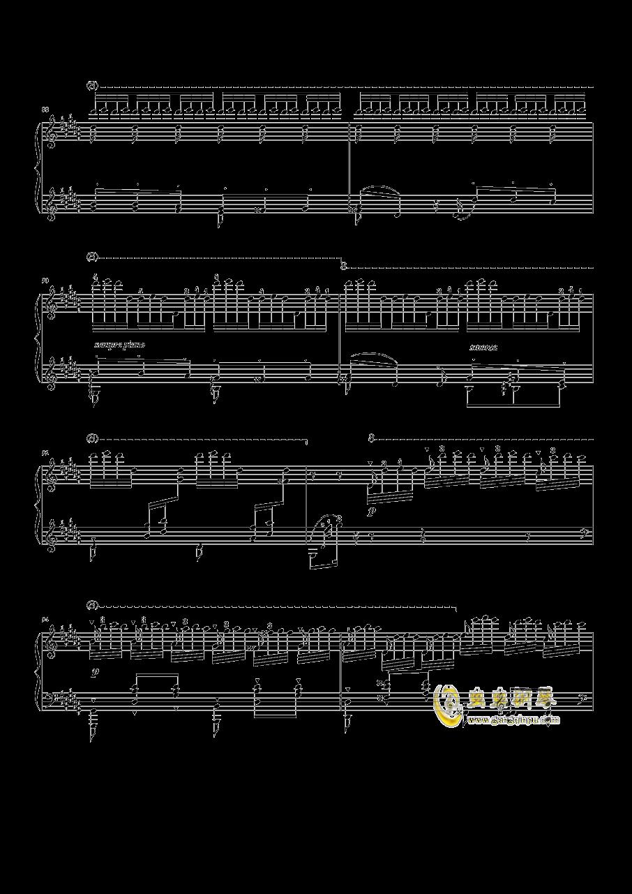 钟钢琴谱 第9页