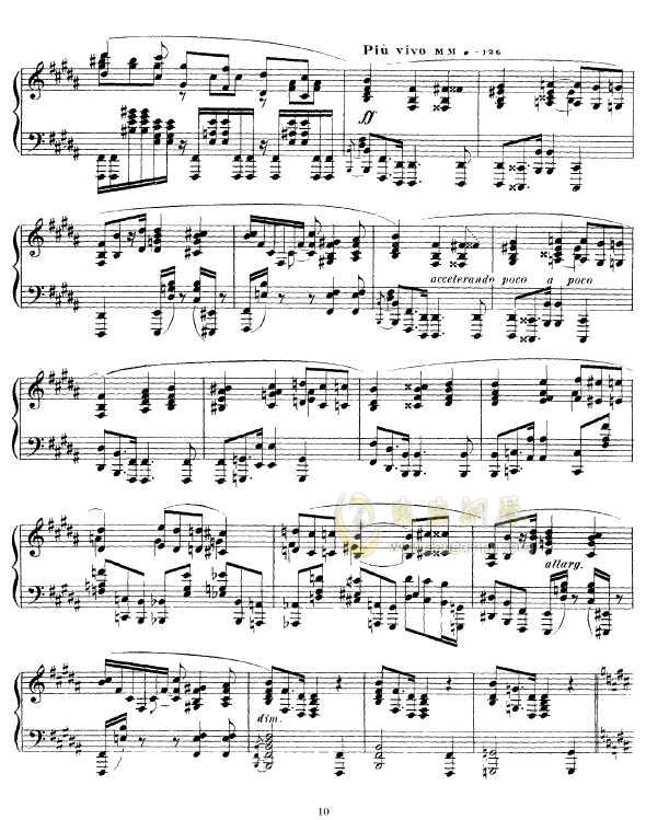 b小调幻想曲钢琴谱 第10页