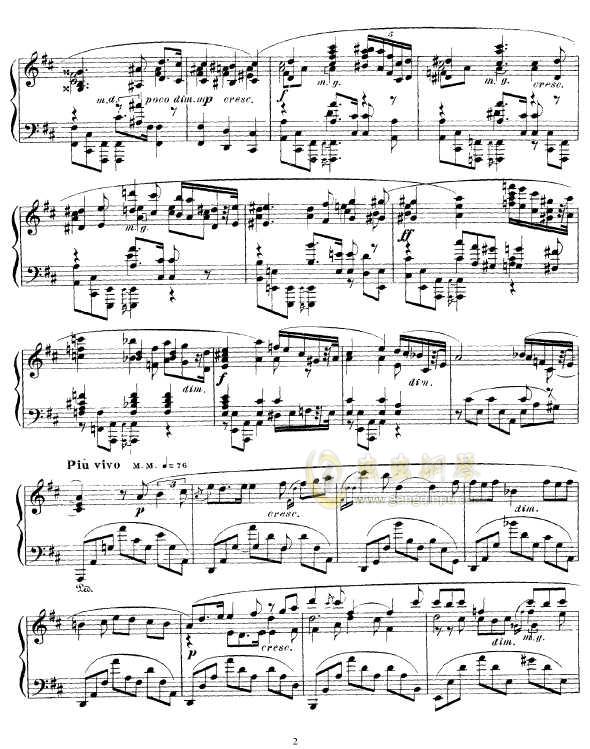 b小调幻想曲钢琴谱 第2页