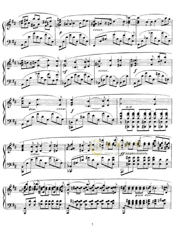 b小调幻想曲钢琴谱 第3页
