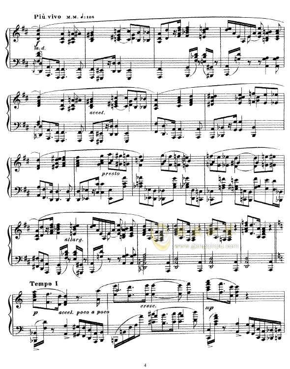 b小调幻想曲钢琴谱 第4页