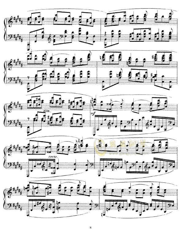 b小调幻想曲钢琴谱 第8页