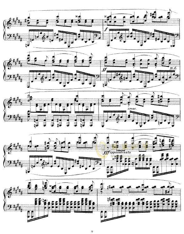 b小调幻想曲钢琴谱 第9页