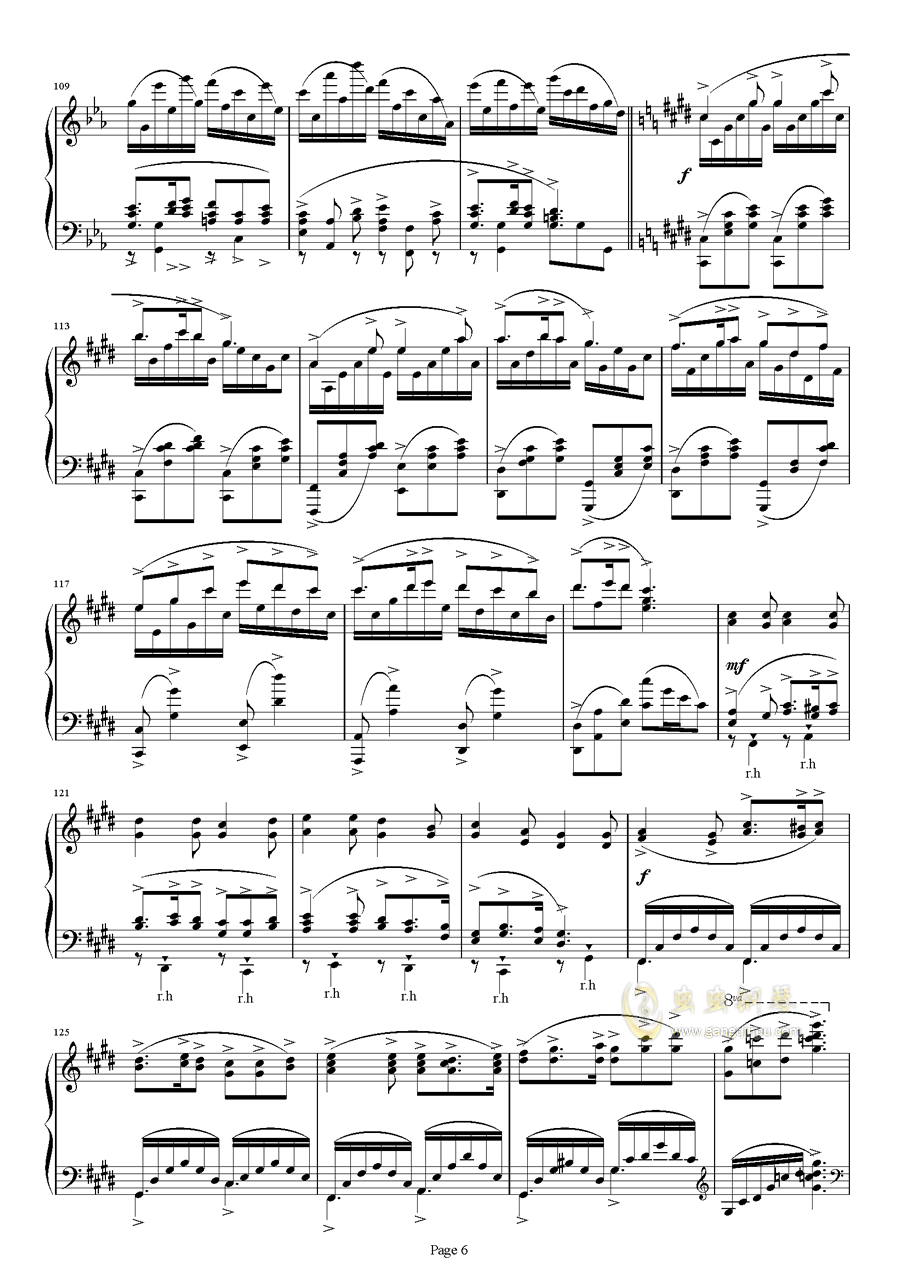 满天钢琴谱 第6页
