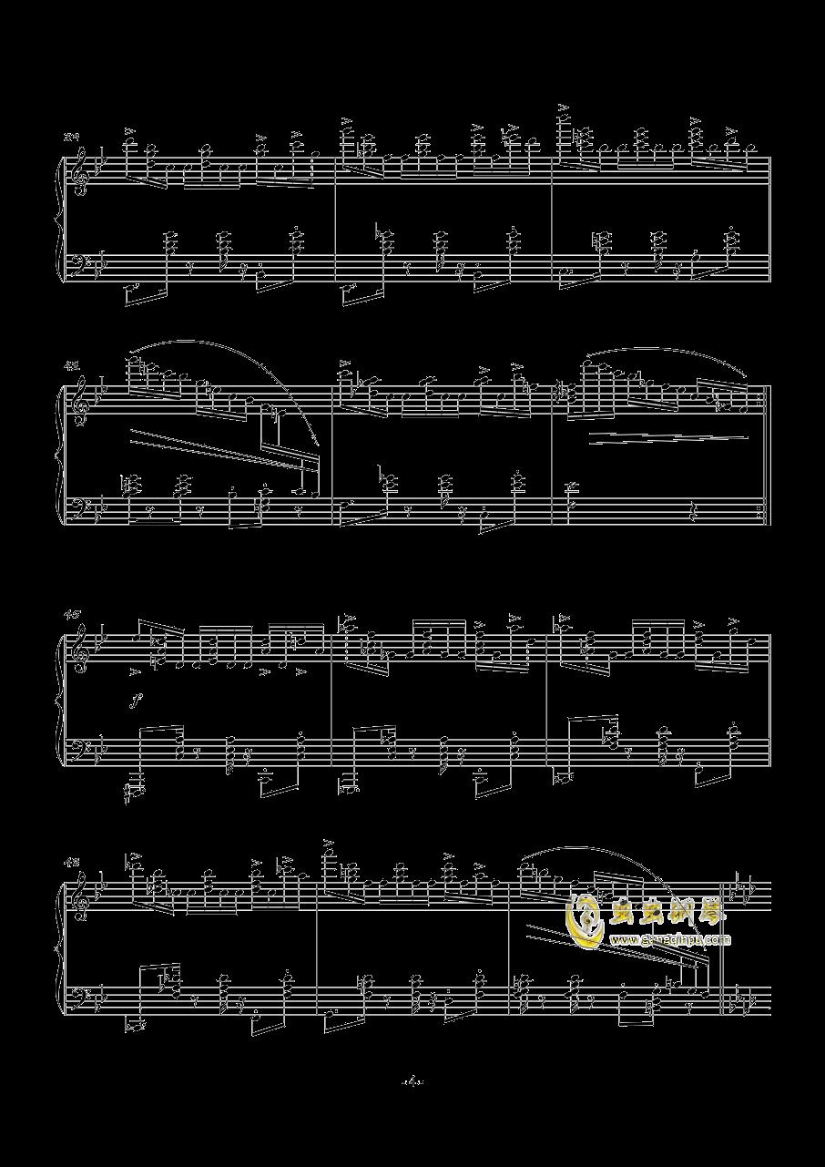 POUSSE-CAFE钢琴谱 第4页
