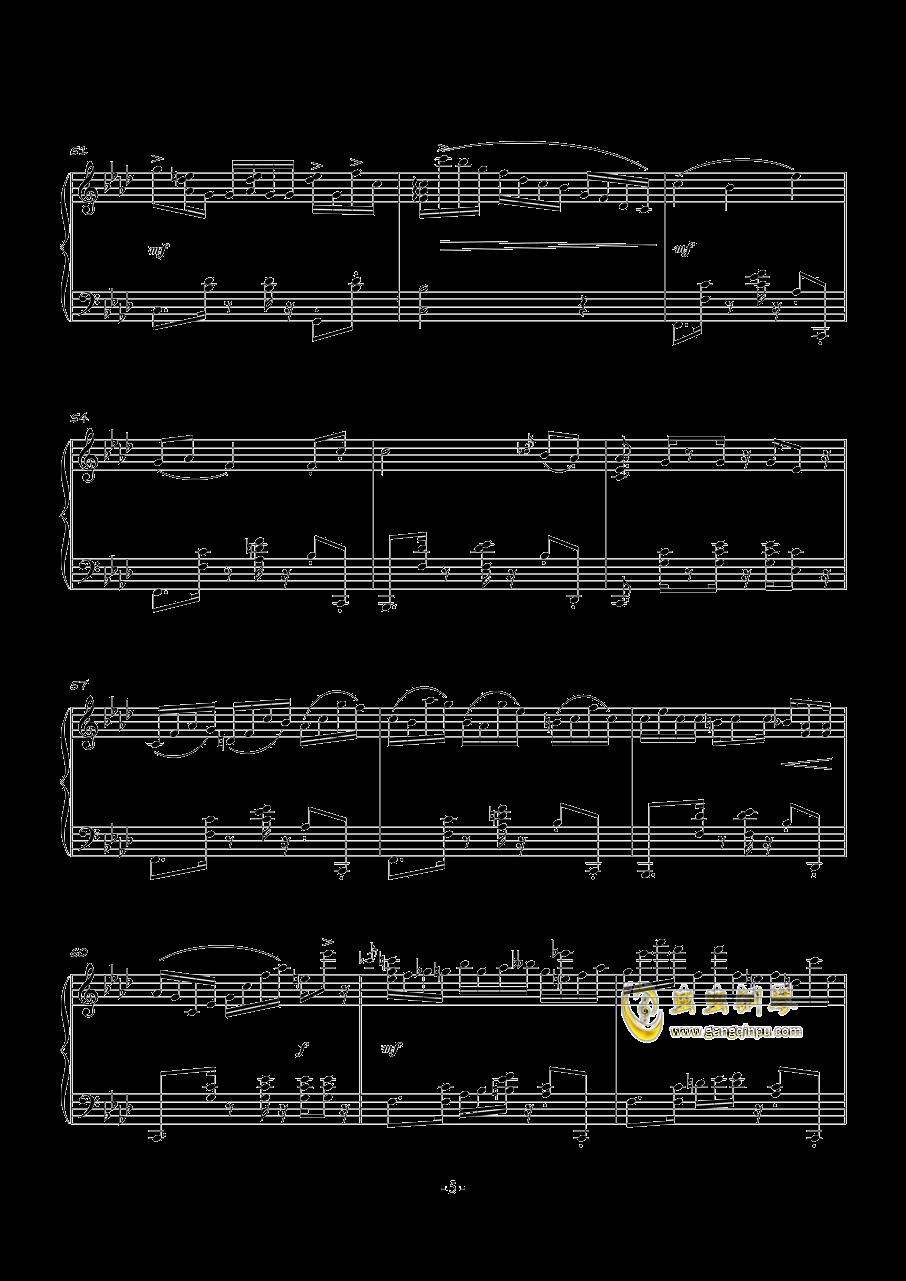 POUSSE-CAFE钢琴谱 第5页