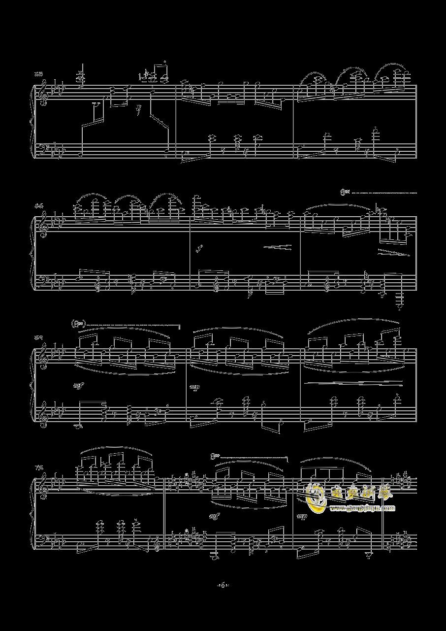 POUSSE-CAFE钢琴谱 第6页