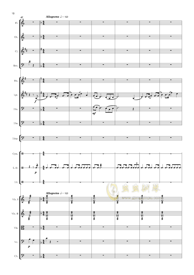 爱丁堡之冬钢琴谱 第10页