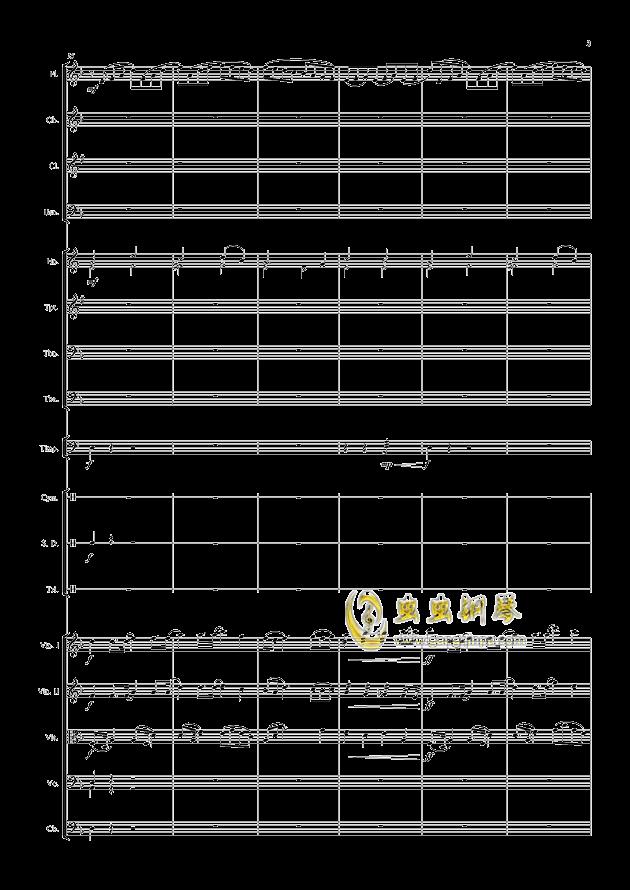 爱丁堡之冬钢琴谱 第3页