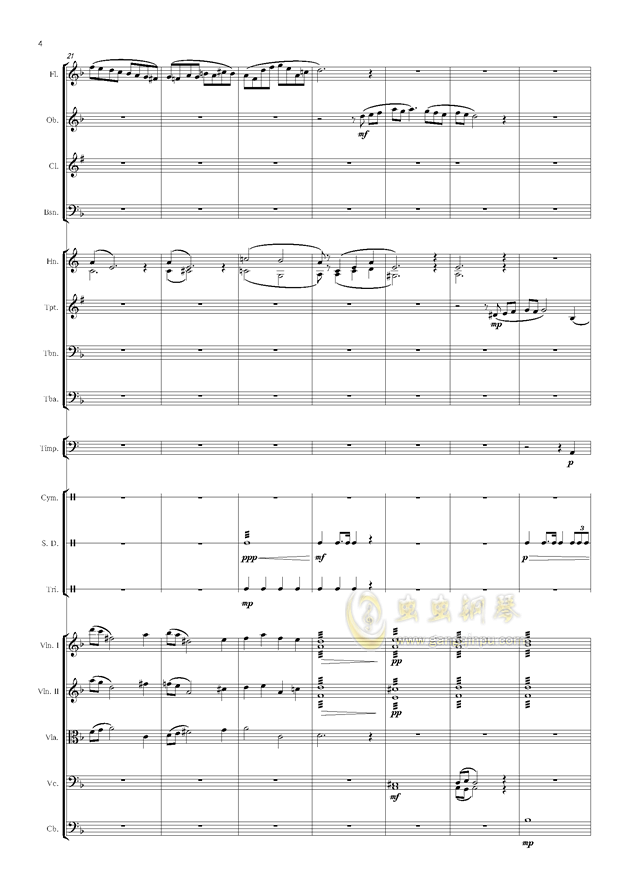 爱丁堡之冬钢琴谱 第4页