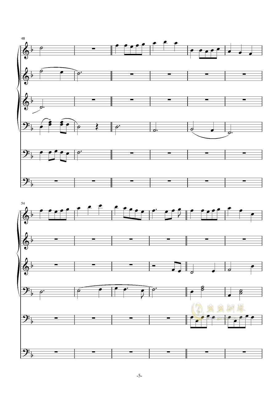 机械木偶的马戏团钢琴谱 第5页