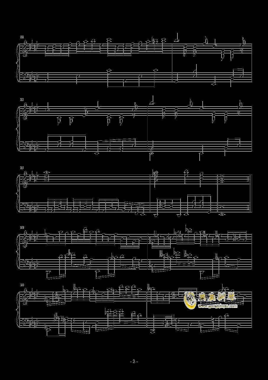 第二钢琴奏鸣曲第二乐章钢琴谱 第2页