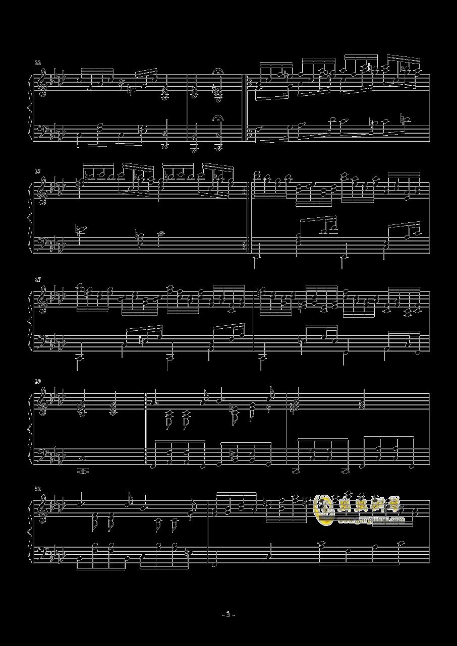 第二钢琴奏鸣曲第二乐章钢琴谱 第3页