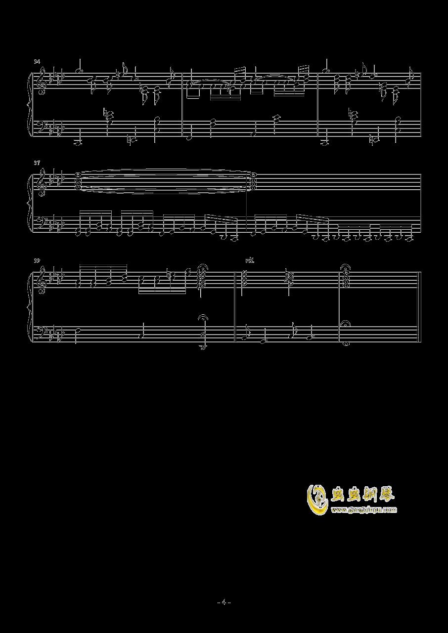 第二钢琴奏鸣曲第二乐章钢琴谱 第4页