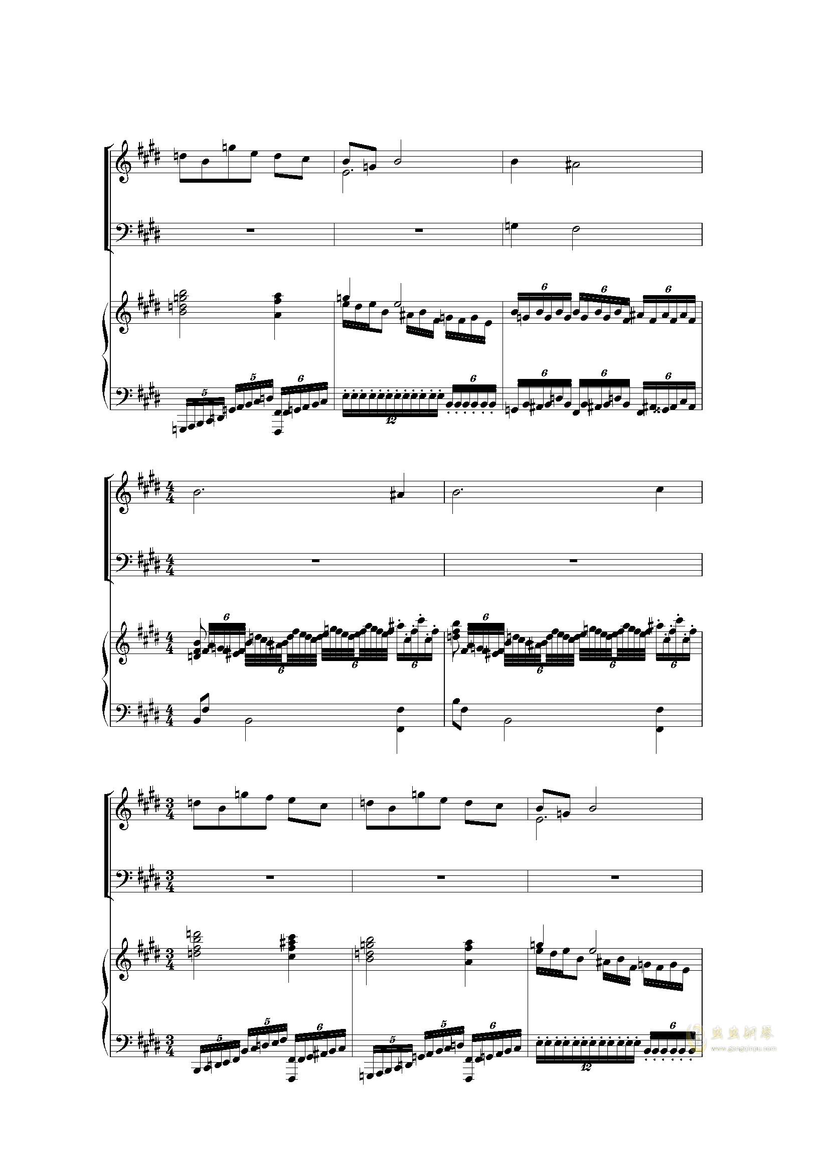 Piano Concerto I (2 mov)钢琴谱 第12页