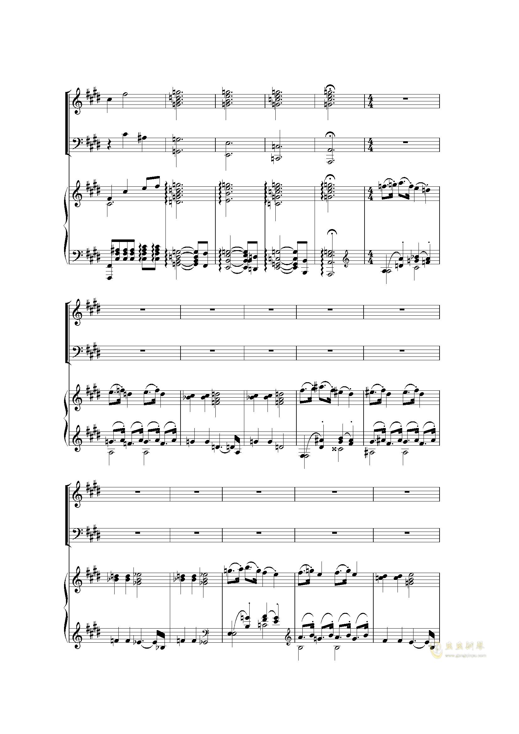 Piano Concerto I (2 mov)钢琴谱 第13页