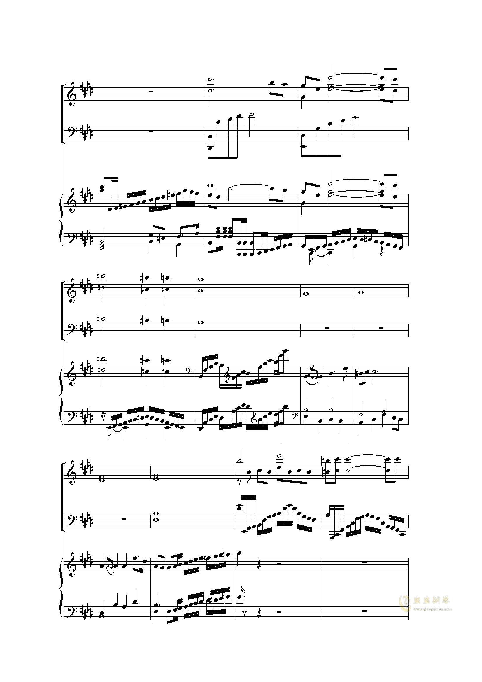 Piano Concerto I (2 mov)钢琴谱 第15页