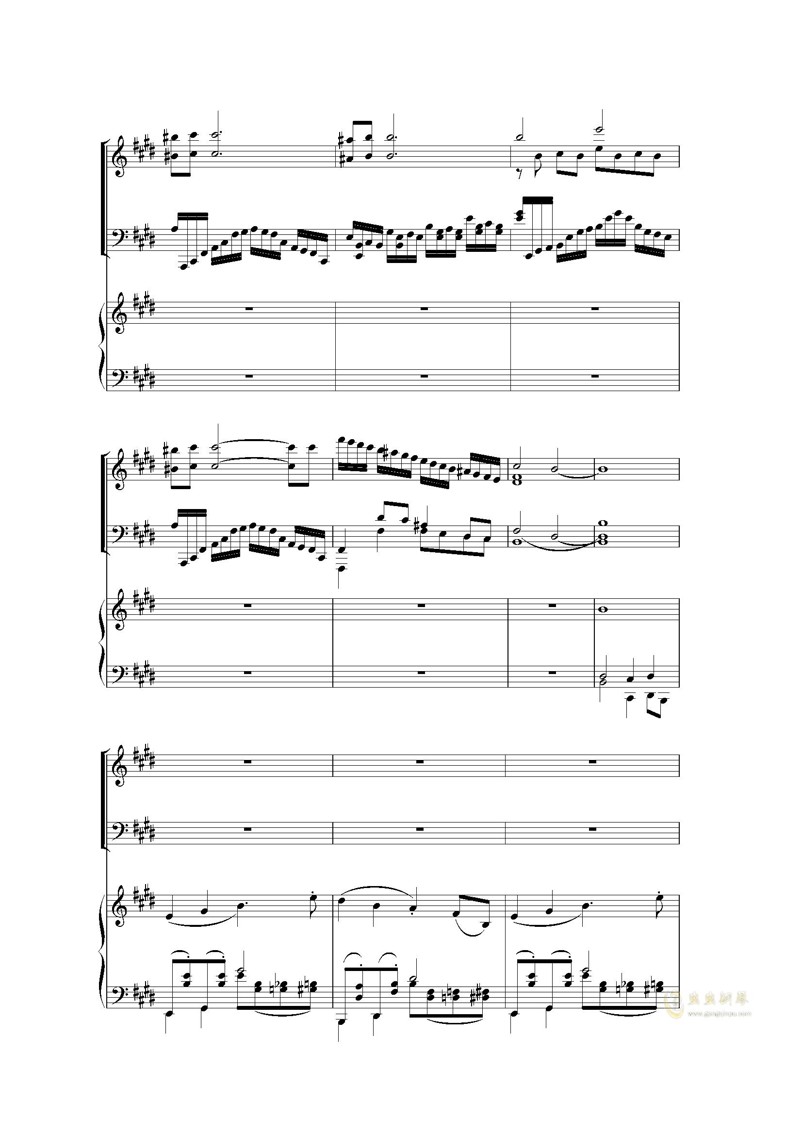 Piano Concerto I (2 mov)钢琴谱 第16页