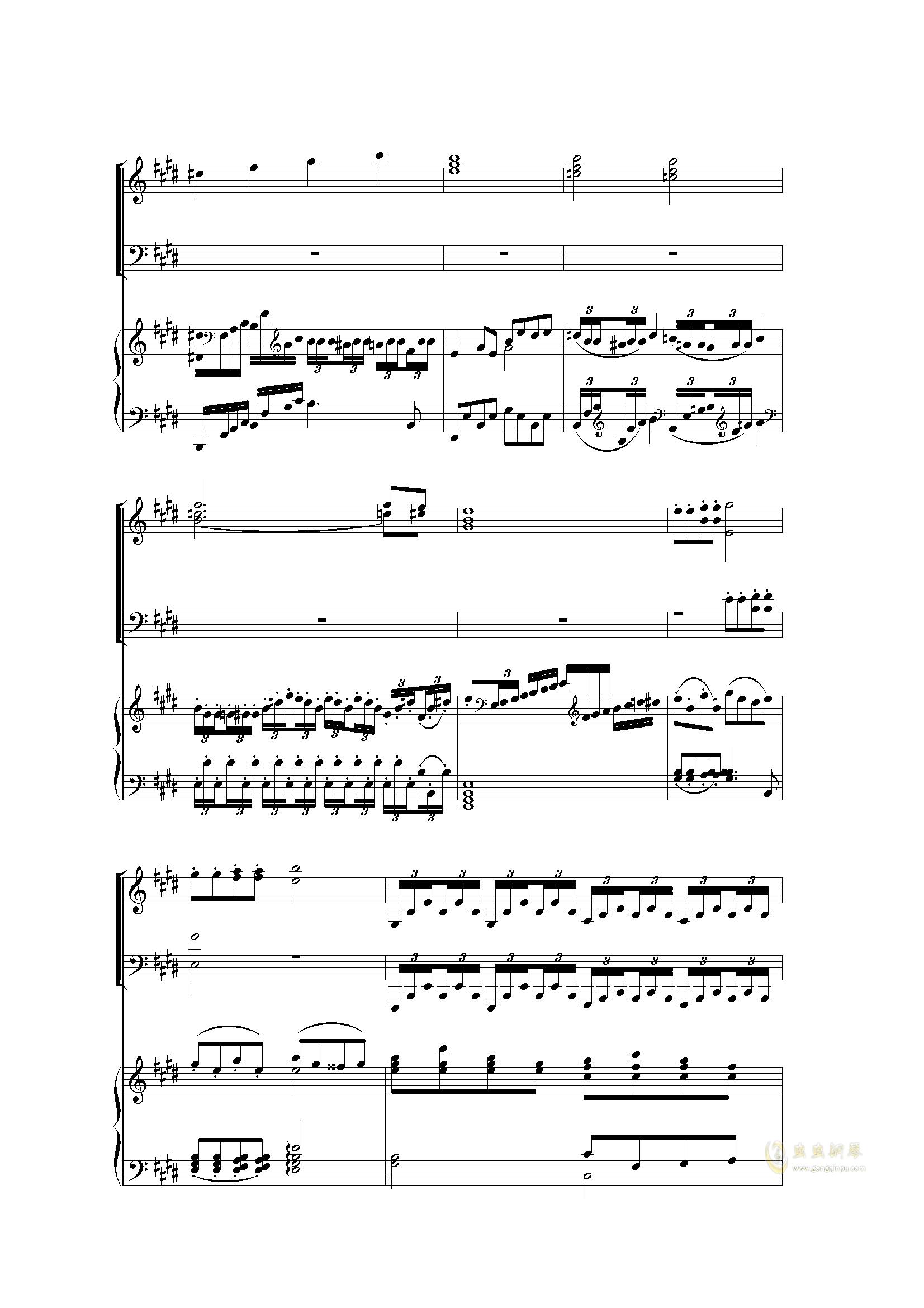 Piano Concerto I (2 mov)钢琴谱 第17页