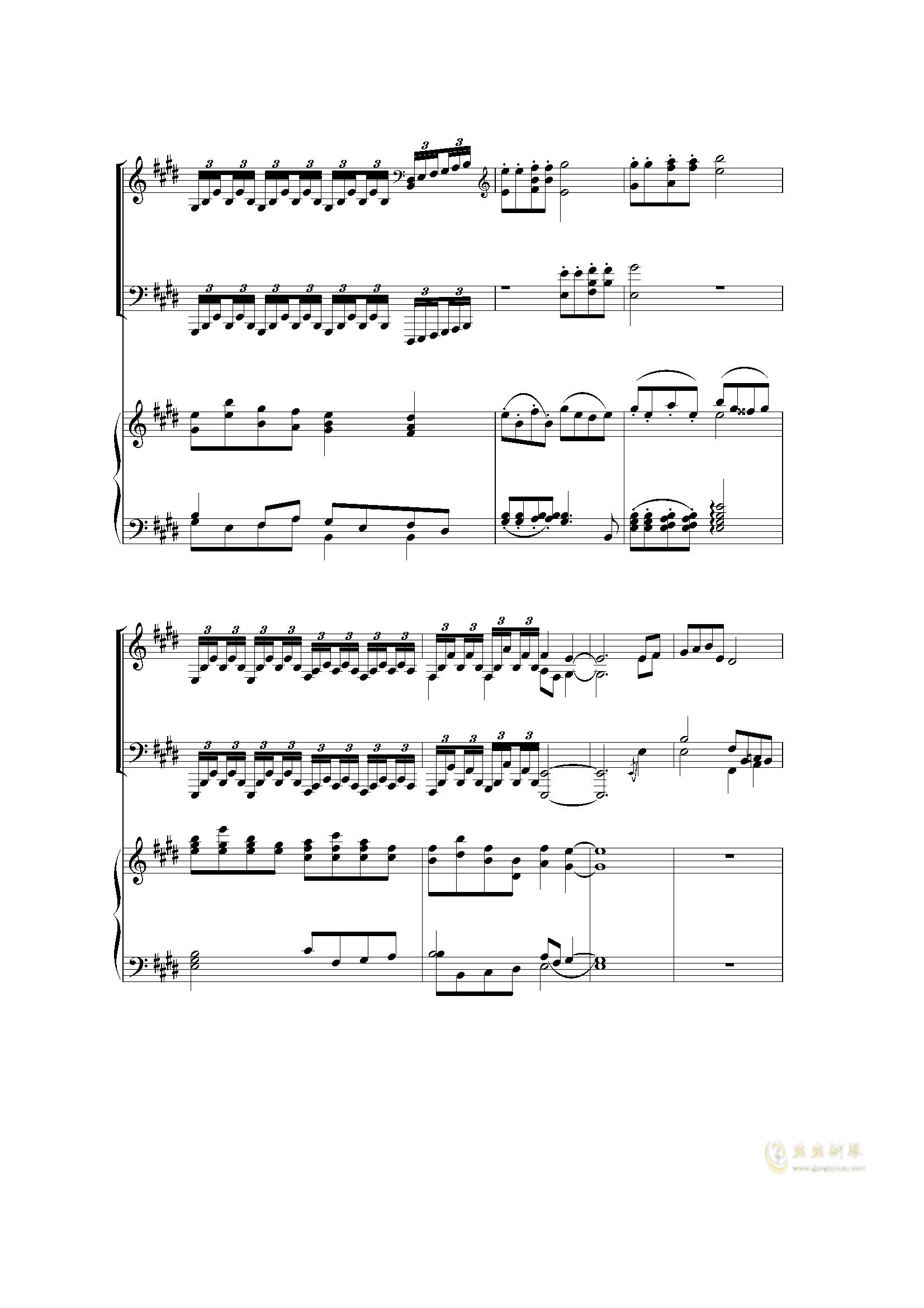 Piano Concerto I (2 mov)钢琴谱 第18页