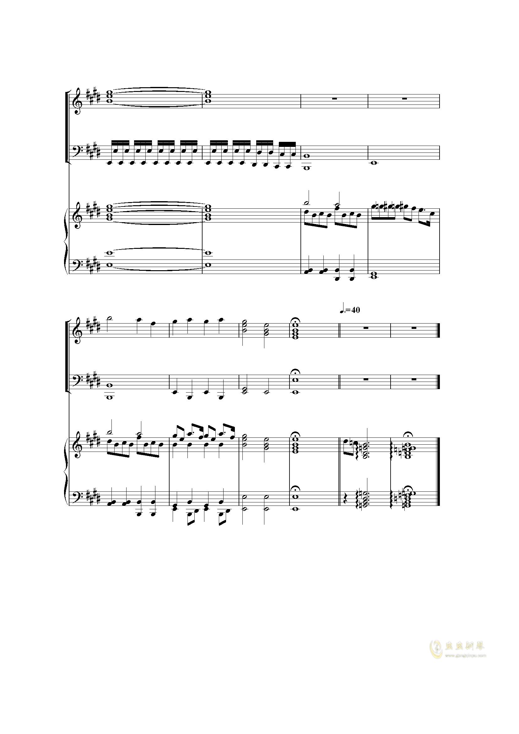 Piano Concerto I (2 mov)钢琴谱 第21页