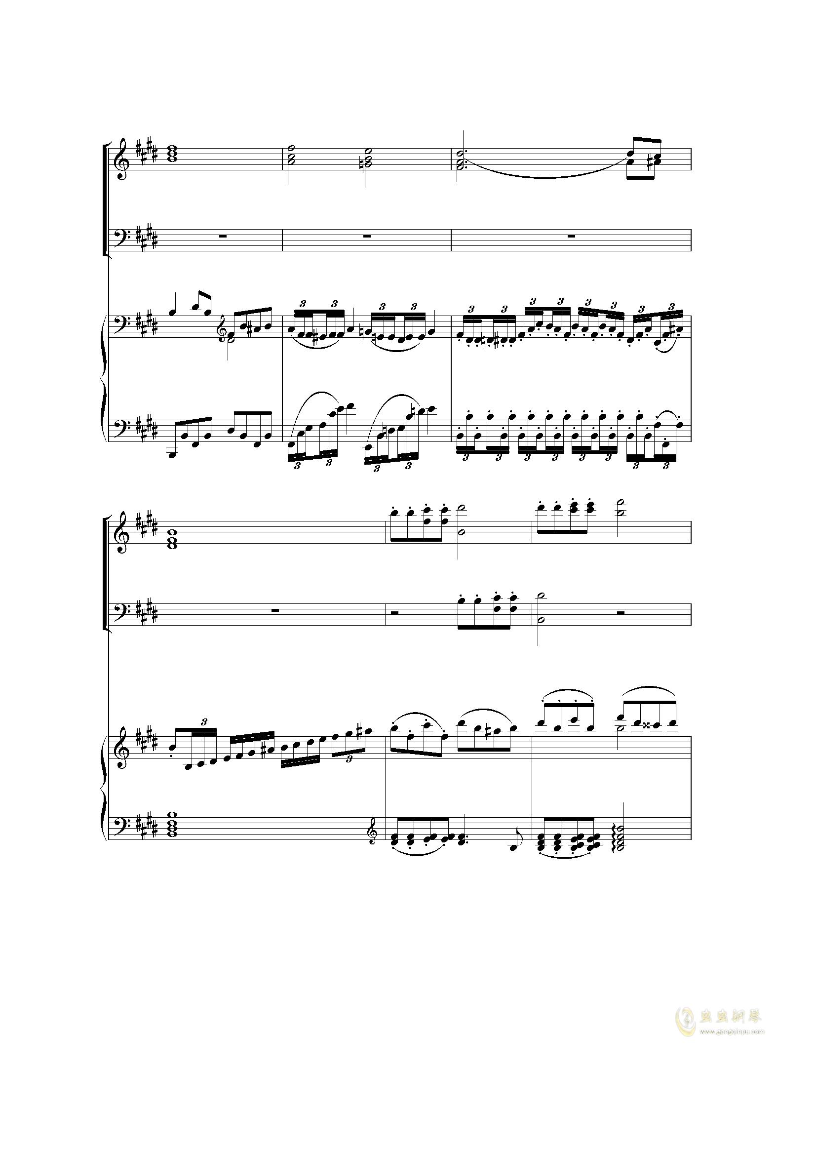 Piano Concerto I (2 mov)钢琴谱 第6页