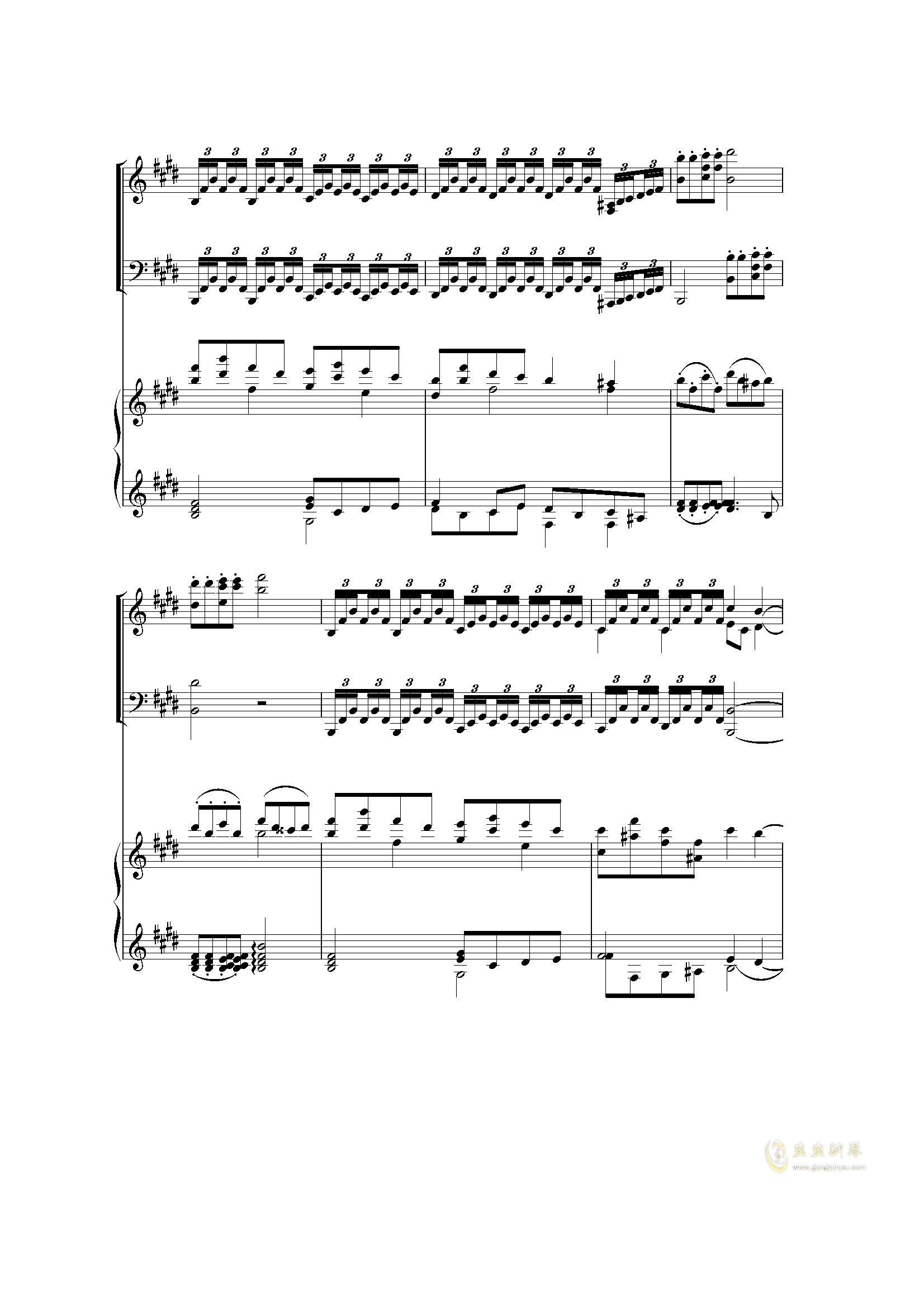 Piano Concerto I (2 mov)钢琴谱 第7页