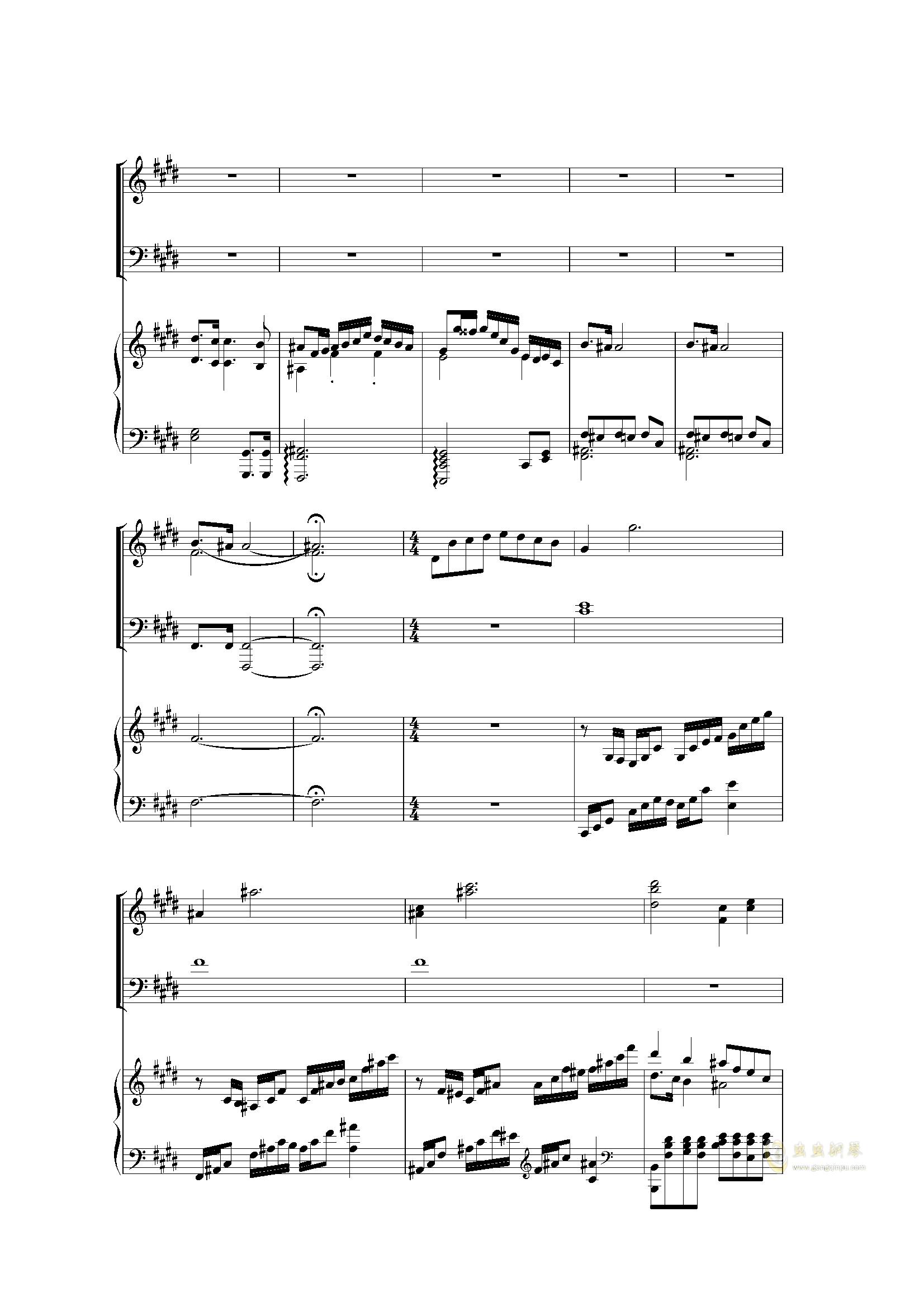 Piano Concerto I (2 mov)钢琴谱 第9页