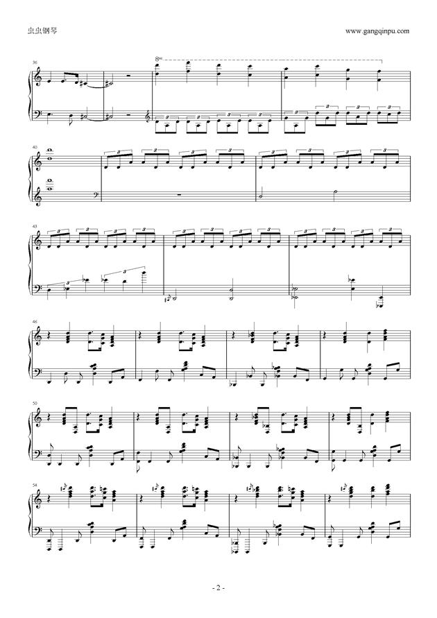 功夫熊猫3天煞主题曲钢琴谱 第2页