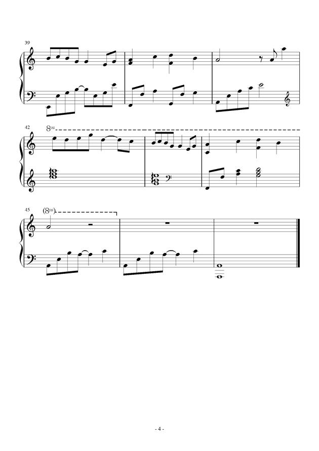 来自星星的你配乐钢琴谱 第4页