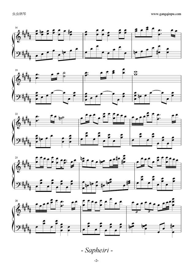 HAMELN钢琴谱 第2页