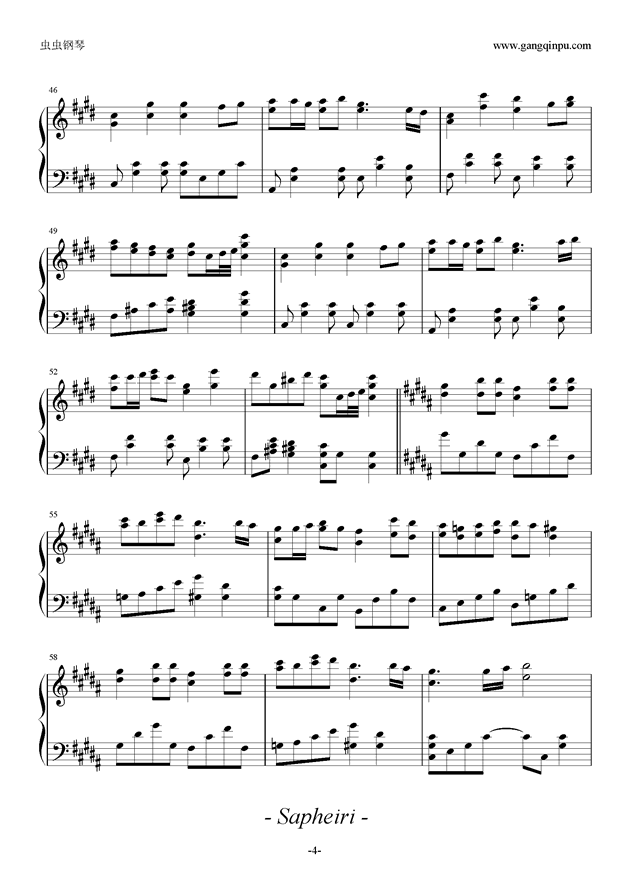 HAMELN钢琴谱 第4页