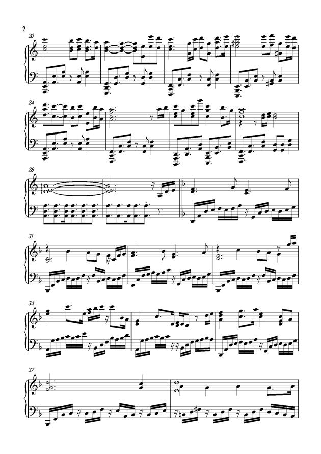 Unicorn钢琴谱 第2页