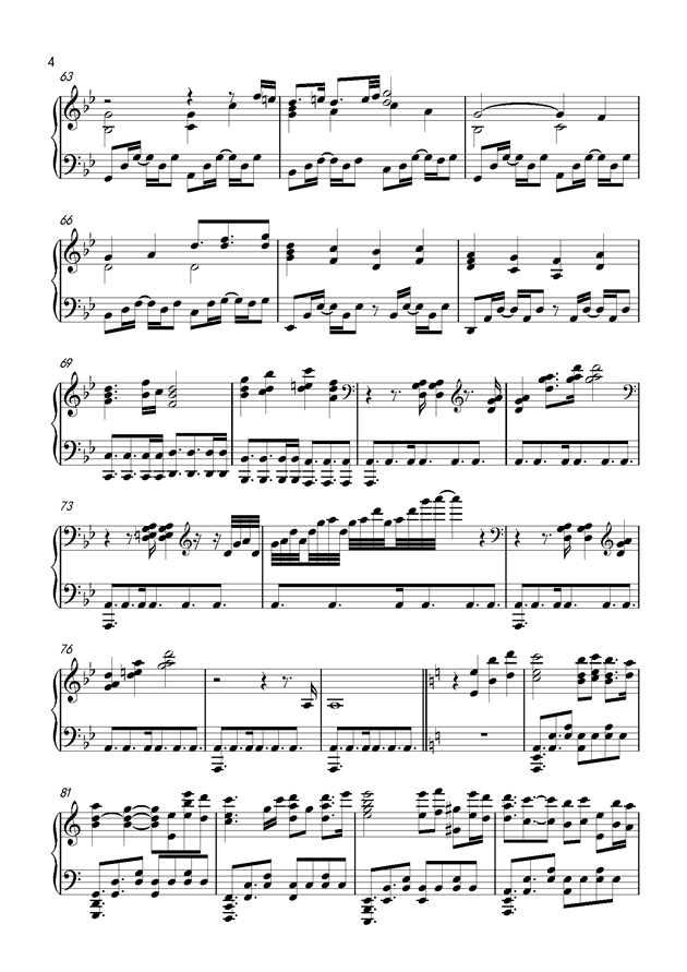 Unicorn钢琴谱 第4页