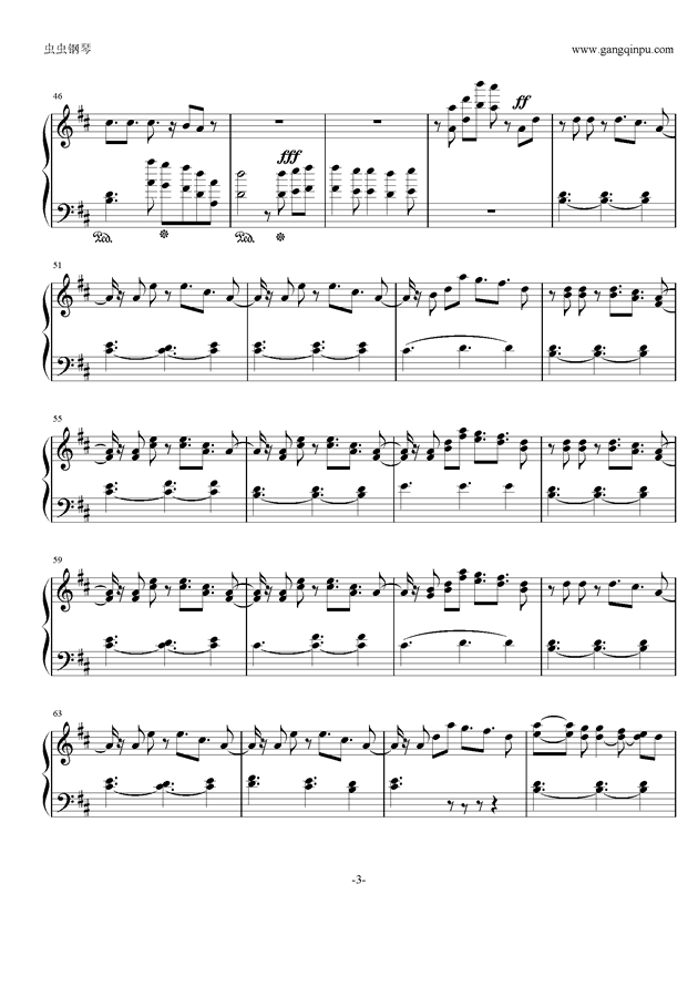 sakura girl钢琴谱 第3页