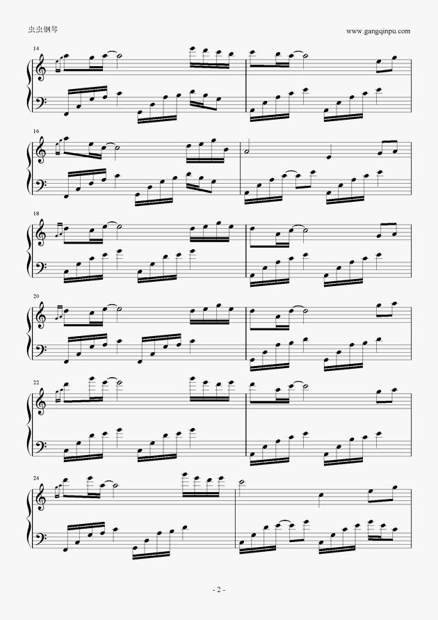 小白羊乐谱-白羊座的忧伤,白羊座的忧伤钢琴谱,白羊座的忧伤钢琴谱网,白羊