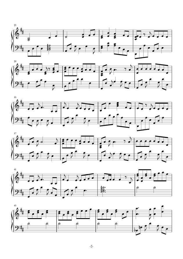 一次就好钢琴谱 第2页