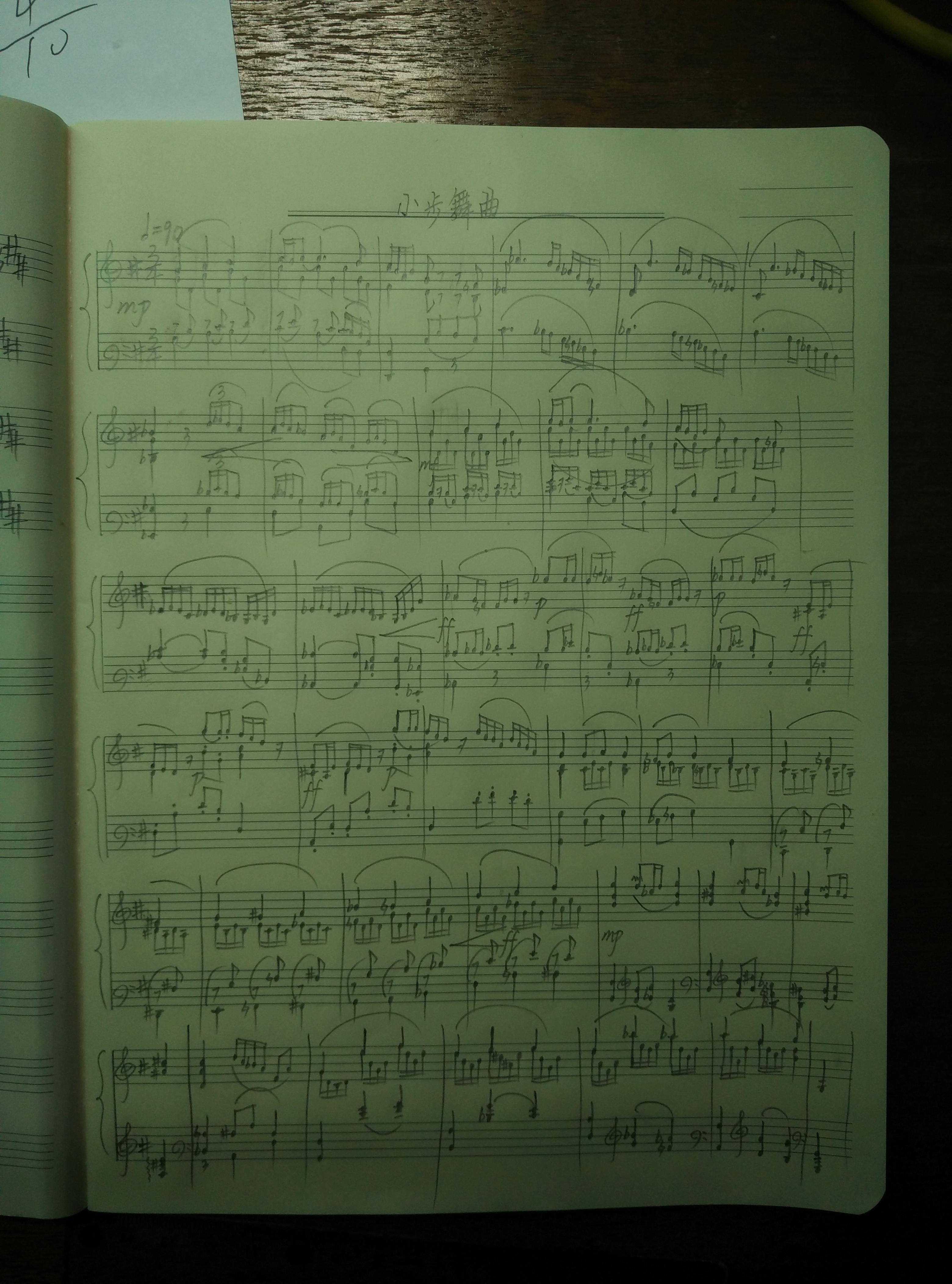 小步舞曲钢琴谱 第1页