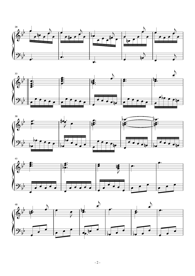第三钢琴奏鸣曲第三乐章钢琴谱 第2页