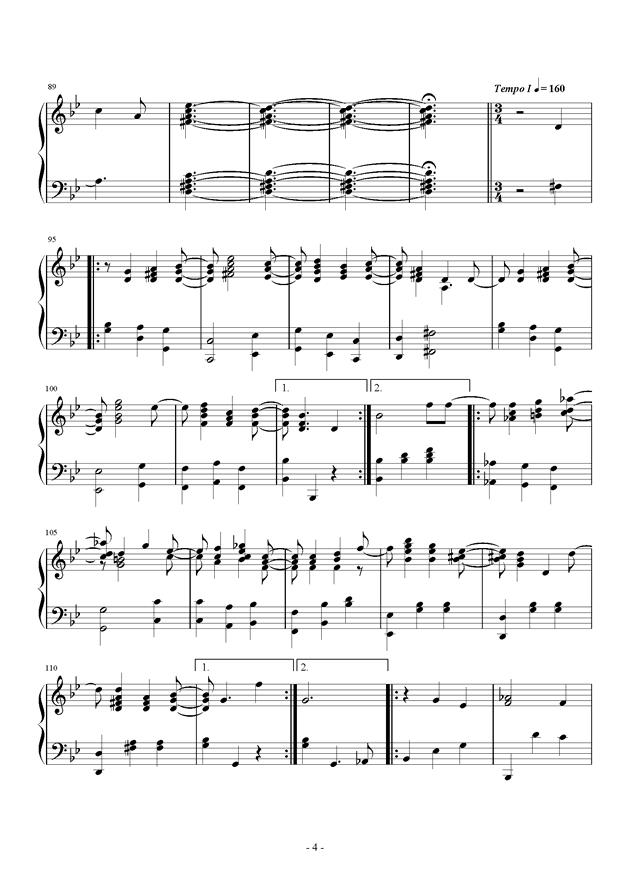 第三钢琴奏鸣曲第三乐章钢琴谱 第4页