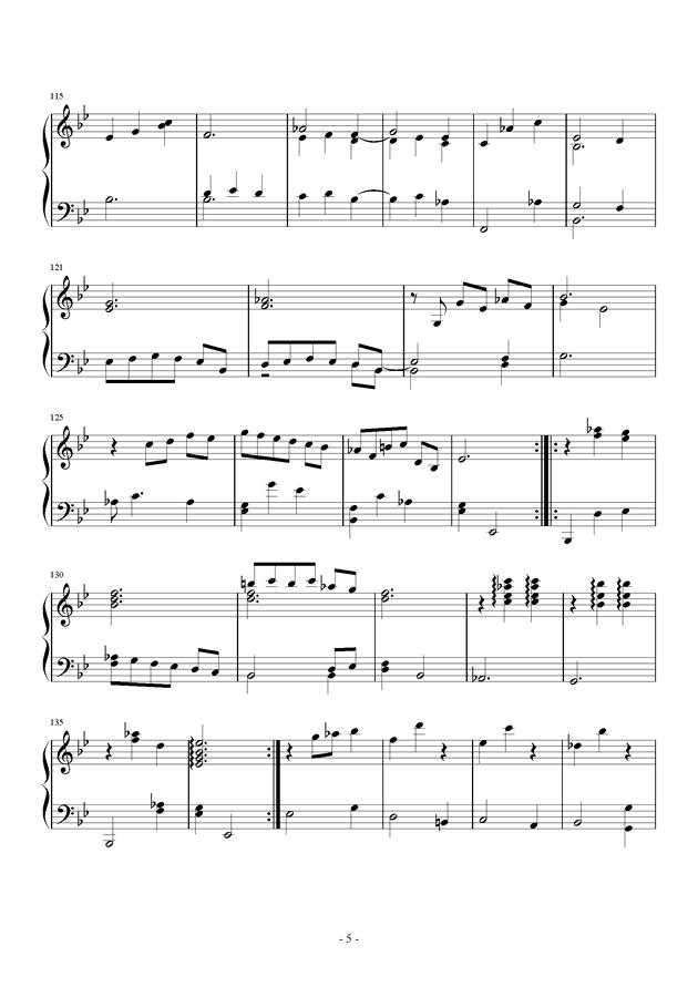 第三钢琴奏鸣曲第三乐章钢琴谱 第5页