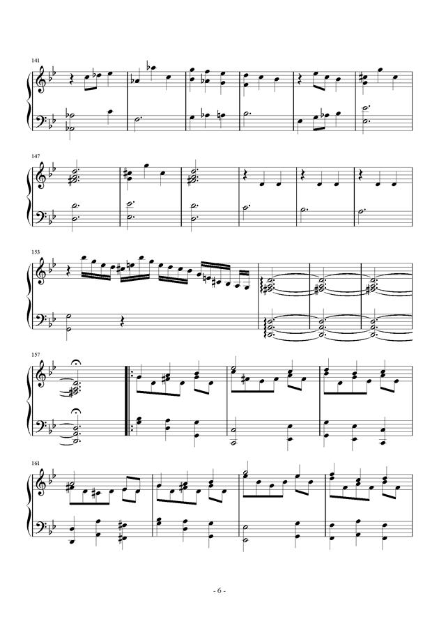 第三钢琴奏鸣曲第三乐章钢琴谱 第6页