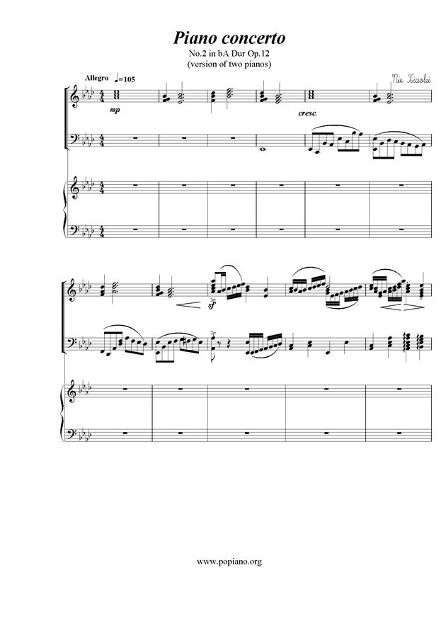 Piano Concerto No.2钢琴谱 第1页