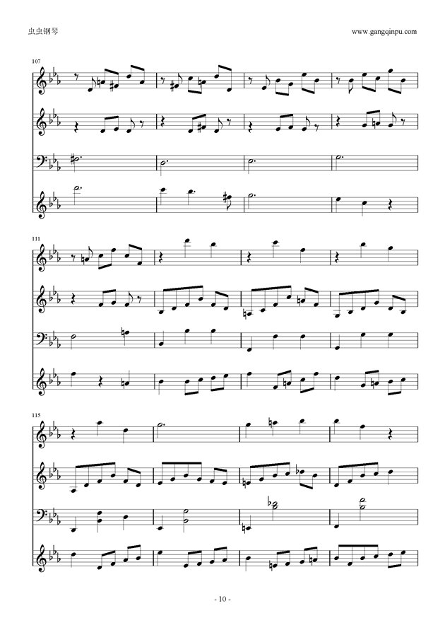 Moon Bridge钢琴谱 第10页