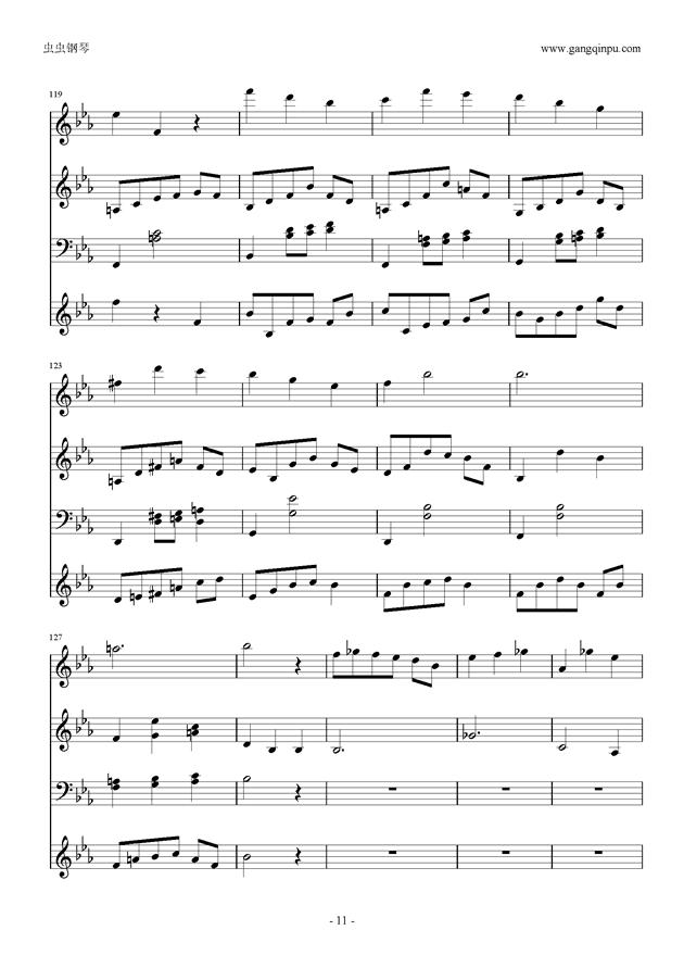 Moon Bridge钢琴谱 第11页