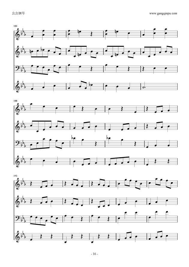 Moon Bridge钢琴谱 第16页
