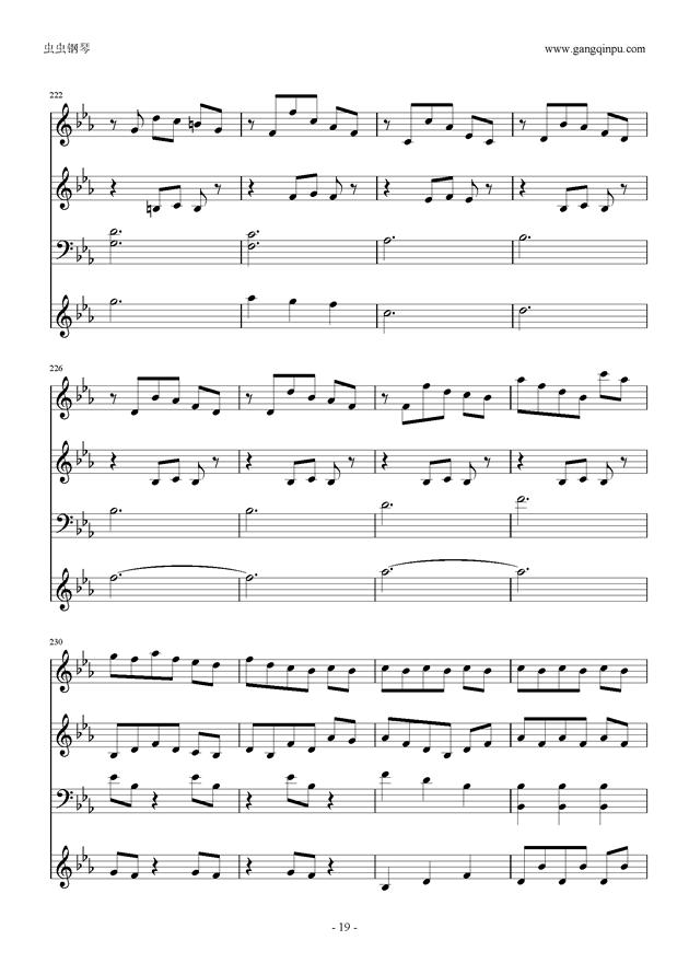 Moon Bridge钢琴谱 第19页