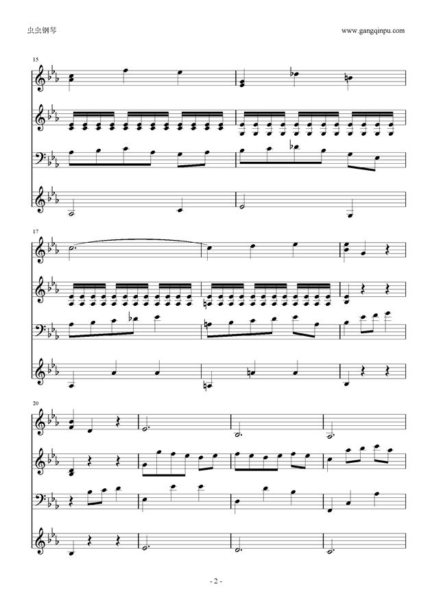 Moon Bridge钢琴谱 第2页