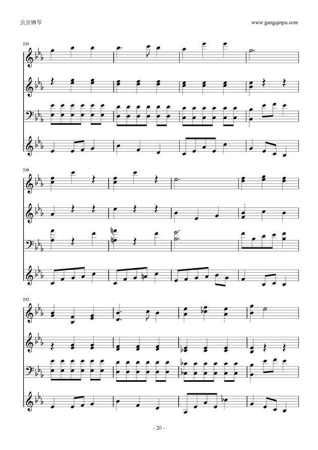 Moon Bridge钢琴谱 第20页